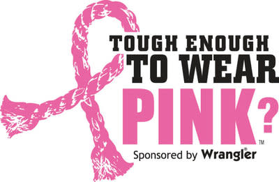 Rodeos rally for Pink! Wrangler Tough Enough To Wear Pink western campaign to fight breast cancer marks 15th anniversary and over 32 million dollars in funds raised by the western community.