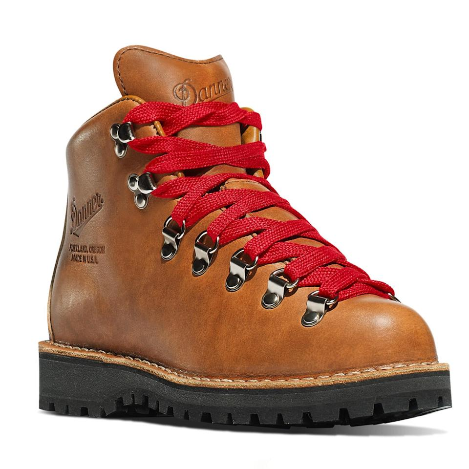 """If it isn't the hiking boot to launch a thousand hiking boots—for real. This is <a href=""""https://cna.st/affiliate-link/ms25gbZTf7AStuqUHkhZ67yRpjizfs1RpGuPvqtjuasP4zVjetjjPqk7Z5opS5HHrSj5gHpQvARCE9BCcGpbscWQcUWQAFaFst?cid=606e0278d486252ea23a3c11"""" rel=""""nofollow noopener"""" target=""""_blank"""" data-ylk=""""slk:the style"""" class=""""link rapid-noclick-resp"""">the style</a> Reese Witherspoon flung off a cliff in <em>Wild,</em> and ever since its major motion picture cameo, Danner's Cascade shoe has sold out multiple times. But it's not just because it looks good on the Silver Screen. The rugged shoe has been a bestseller since the '70s for good reason. It's made from a single piece of leather to help keep out dirt and water, and the 5"""" inch Vibram sole is ideal for trekking through all kinds of terrain. Despite looking hefty, reviewers say the shoe is actually super breathable, so it's perfect for any warm-weather <a href=""""https://www.glamour.com/story/best-camping-essentials?mbid=synd_yahoo_rss"""" rel=""""nofollow noopener"""" target=""""_blank"""" data-ylk=""""slk:camping trips"""" class=""""link rapid-noclick-resp"""">camping trips</a> you have planned. $360, Danner. <a href=""""https://www.danner.com/mountain-light-cascade.html.html"""" rel=""""nofollow noopener"""" target=""""_blank"""" data-ylk=""""slk:Get it now!"""" class=""""link rapid-noclick-resp"""">Get it now!</a>"""