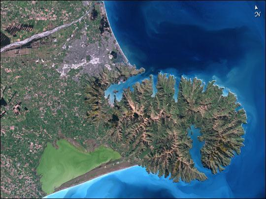 An aerial view of Christchurch, New Zealand, where a magnitude 6.3 earthquake struck.