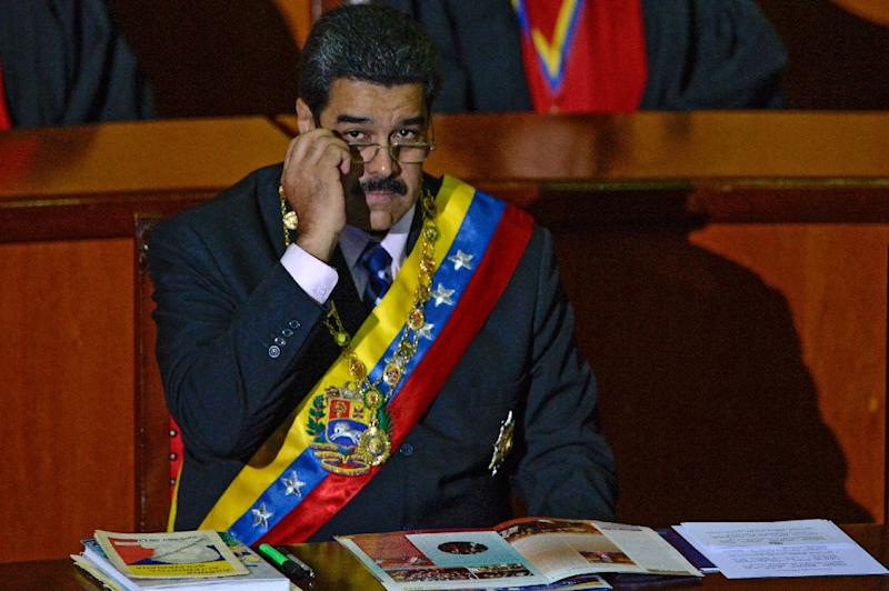 Venezuelan President Nicolas Maduro, seen in Caracas on January 29, 2016, continually refuses to produce his birth certificate and says he was born in Caracas on November 23, 1962