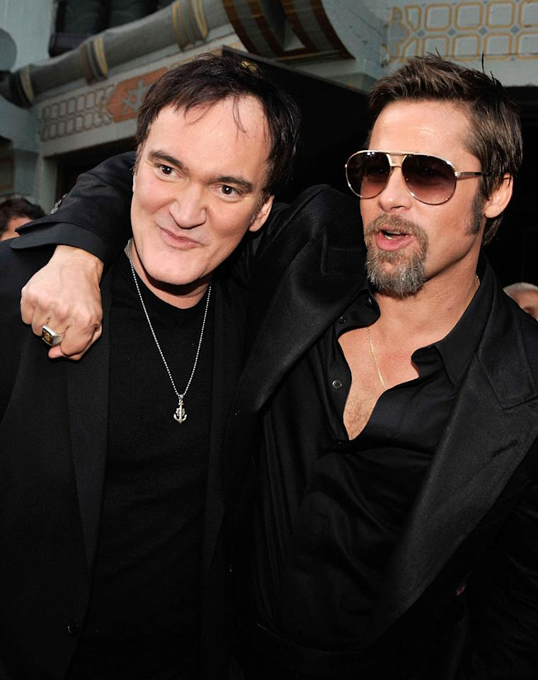 "<a href=""http://movies.yahoo.com/movie/contributor/1800021942"">Quentin Tarantino</a> and <a href=""http://movies.yahoo.com/movie/contributor/1800018965"">Brad Pitt</a> at the Los Angeles premiere of <a href=""http://movies.yahoo.com/movie/1808404206/info"">Inglourious Basterds</a> - 08/10/2009"
