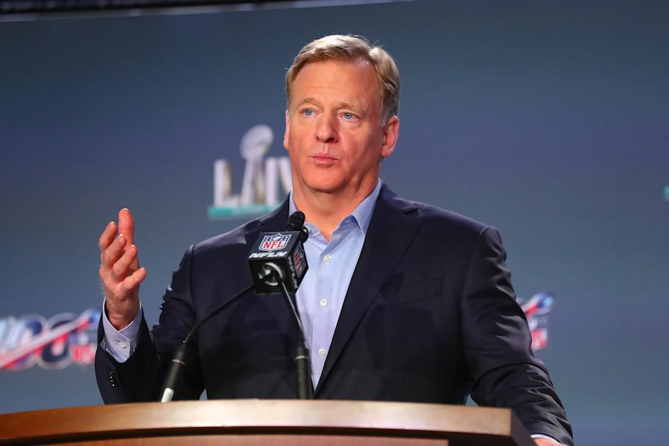 NFL commissioner Roger Goodell's memo asks teams to have plans in place by May 15 to reopen their practice facilities. (Photo by Rich Graessle/PPI/Icon Sportswire via Getty Images)