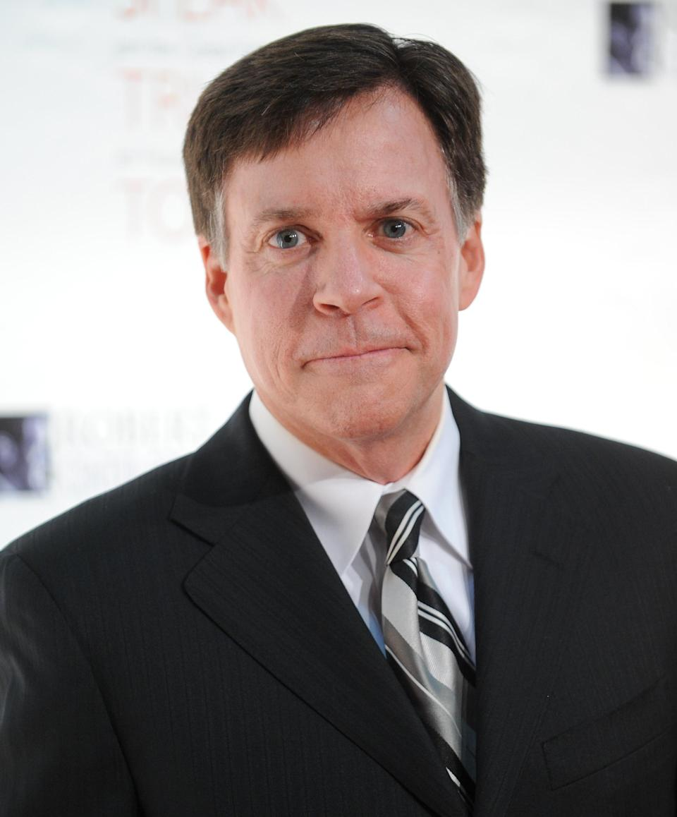 """FILE - This Nov. 17, 2010 file photo shows sports commentator Bob Costas at the Robert F. Kennedy Center for Justice and Human Rights 2010 Ripple of Hope Awards Dinner at Pier Sixty in New York. Costas' """"Sunday Night Football"""" halftime commentary supporting gun control sparked a Fox News Channel debate Monday, Dec. 3, 2012, on whether NBC should fire him. The NBC sportscaster, who frequently delivers commentary at halftime of the weekly NFL showcase, addressed the weekend's murder-suicide involving Kansas City Chiefs linebacker Jovan Belcher. (AP Photo/Evan Agostini, file)"""