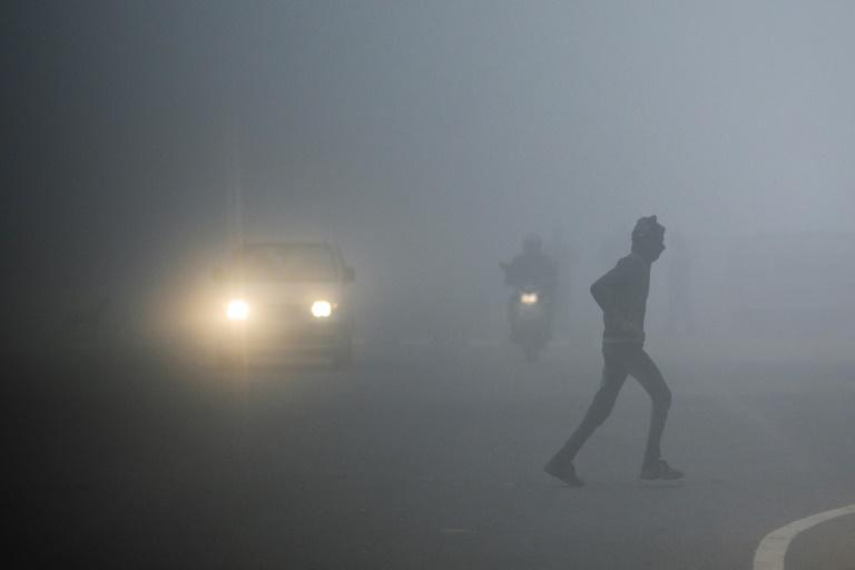 Thick fog has reduced visibility across northern India
