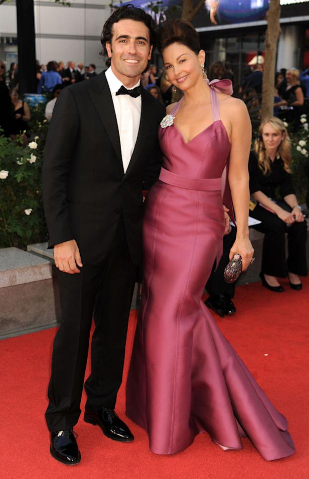 Dario Franchitti and Ashley Judd arrive at the 64th Primetime Emmy Awards at the Nokia Theatre in Los Angeles on September 23, 2012.