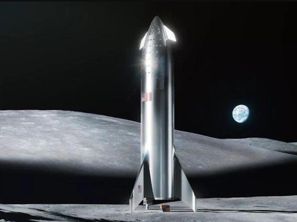 <p>SpaceX says its Starship spacecraft could transport people to the moon and Mars</p>SpaceX