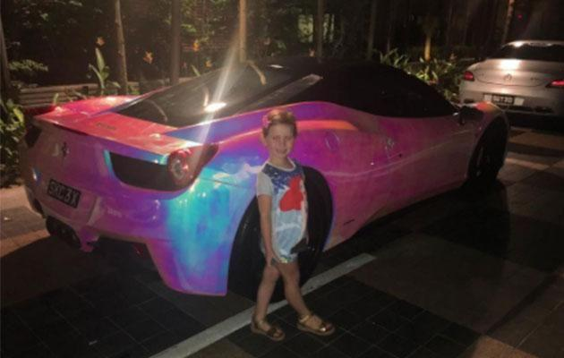 Pixie's pink ride while she was in Singapore. Photo: Instagram