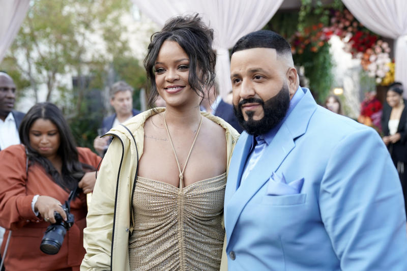 LOS ANGELES, CALIFORNIA - JANUARY 25: (L-R) Rihanna and DJ Khaled attend 2020 Roc Nation THE BRUNCH on January 25, 2020 in Los Angeles, California. (Photo by Erik Voake/Getty Images for Roc Nation)
