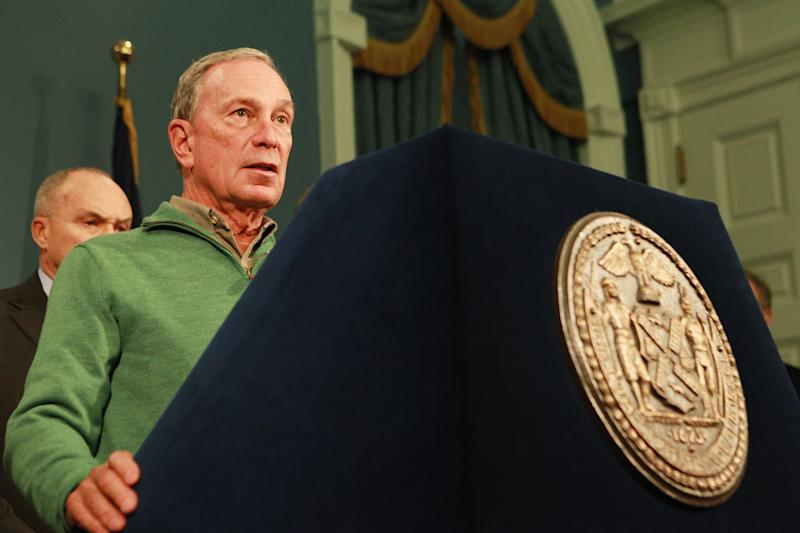 In this photo provided by New York City Mayor's Office, New York City Mayor Michael Bloomberg updates the media on the City's Superstorm Sandy recovery efforts, Friday, Nov. 2, 2012 in New York. Later that day Bloomberg Bloomberg cancelled the 2012 New York Marathon amid growing public pressure. (AP Photo/NYC Mayor's Office, Kristin Artz)