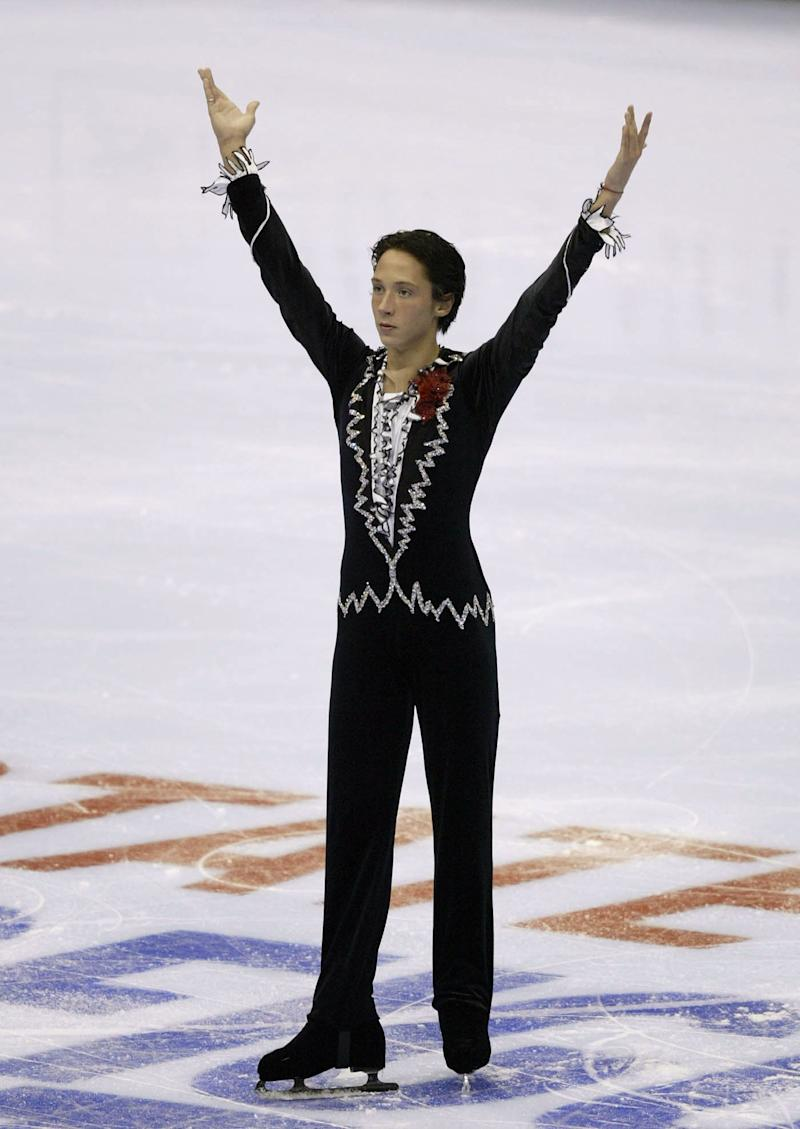 Competing in the short program during the State Farm U.S. Figure Skating Championships on Jan. 8, 2004, at Philips Arena in Atlanta.