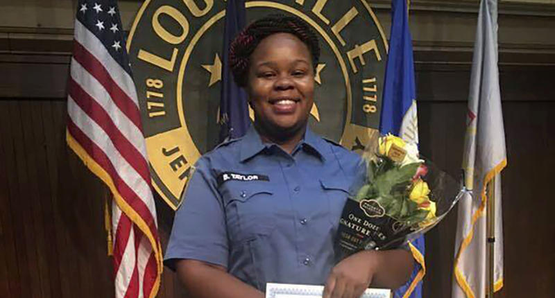 A photo of emergency medical worker Breonna Taylor who died after she was shot multiple times by Louisville police officers.