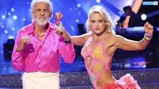 Dancing With the Stars said goodbye to Tommy Chong, one of the series' most beloved contestants in recent memory during the semi-finals, and while many of the ABC reality hit's fans were sad to see the 76-year-old Cheech & Chong star go, no one was sadder than Peta Murgatroyd, his partner.After being eliminated from the competition, a teary-eyed Peta told E! News she's so proud of Tommy, sayingI guess it just like floored me with, like, how loved he is. I am so in love with him right now.