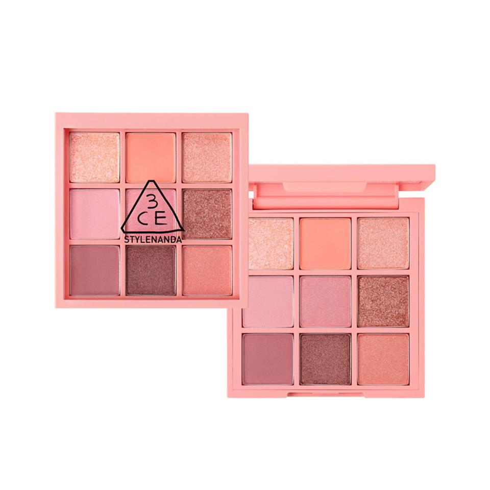 "<p>While in Seoul, one of my favorite beauty shops to stop in was 3CE for its fun packaging and exciting hues. Picking just <em>one</em> of its products to spotlight was a difficult choice, but the 3CE Multi Eye Color Palette in #Beach Muse touts colors that are perpetually <a href=""https://www.allure.com/story/top-korean-makeup-trends-2019-jennyhouse-makeup-artist?mbid=synd_yahoo_rss"">on-trend in Korea</a>. A wash of shimmery coral or rose gold on the lids transcends seasons and time. The nine-shade kit is even a staple on Seoul-based makeup artist <a href=""https://www.instagram.com/hyemin042489/?hl=en"">Jo Hyemin's</a> vanity at Jennyhouse, a salon in Cheongdam Hill.</p> <p>Some honorable mentions: the <a href=""https://en.stylenanda.com/product/3ce-face-blush-full-of-charm/236476"" rel=""nofollow"">Face Blush</a>, which is a favorite of YouTube star <a href=""https://www.instagram.com/joankeem/?hl=en"">Joan Kim's</a> because it's easy to layer, and the <a href=""https://en.stylenanda.com/product/3ce-velvet-lip-tint-twin-rose/237381"" rel=""nofollow"">Velvet Lip Tint</a>.</p> <p>$38 (<a href=""https://en.stylenanda.com/product/3ce-multi-eye-color-palette-beach-muse/236471/"" rel=""nofollow"">Shop Now</a>)</p>"