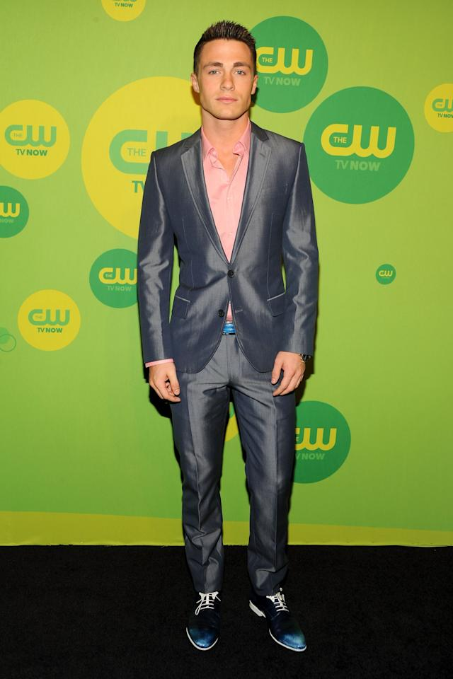 NEW YORK, NY - MAY 16:  Actor Colton Haynes attends The CW Network's New York 2013 Upfront Presentation at The London Hotel on May 16, 2013 in New York City.  (Photo by Ben Gabbe/Getty Images)