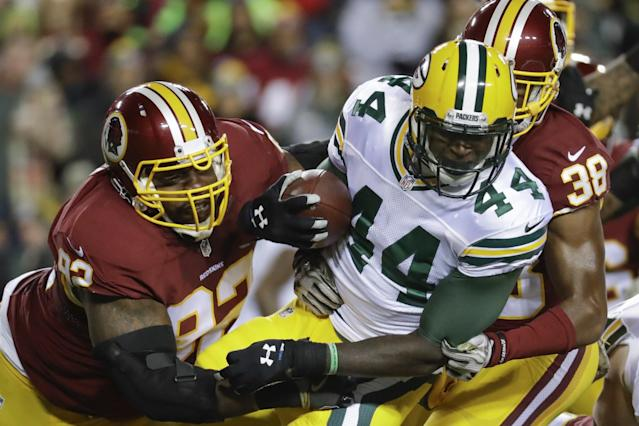 Rough season: James Starks suffered a concussion in a car accident. (AP)