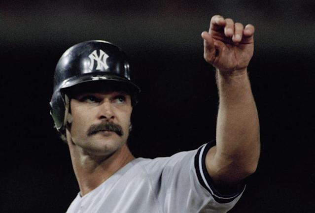 Don Mattingly, manager of the Marlins, in his former life as a baseball player/mustache-haver. (AP Photo)