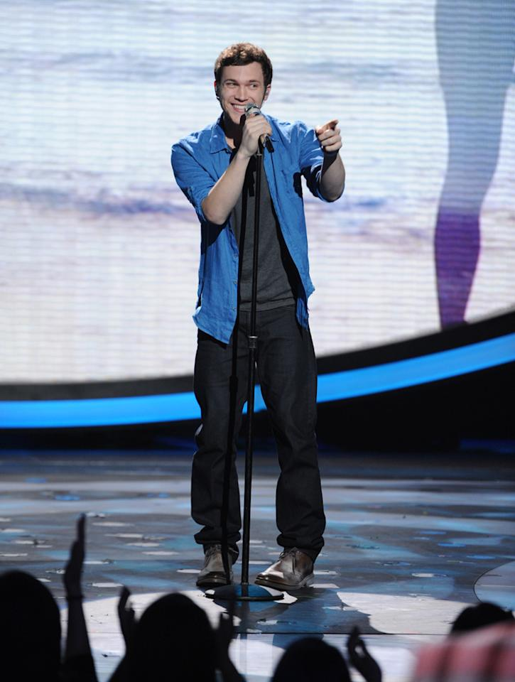 "Phillip Phillips performs ""Have You Ever Seen the Rain?"" by Creedence Clearwater Revival on ""<a target=""_blank"" href=""http://tv.yahoo.com/american-idol/show/34934"">American Idol</a>."""