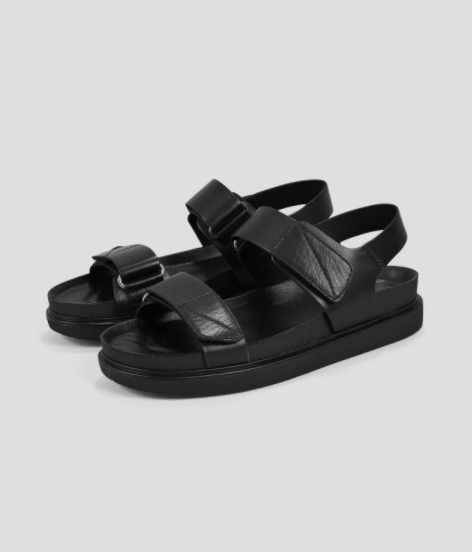 """No matter how hard I try to get away, black sandals always pull me back in. This Vagabond pair meets my criteria of being both chunky and comfy, meaning they'll be perfect for wandering around my local park all summer.<br><br><strong>Vagabond</strong> Black Leather Sandals, $, available at <a href=""""https://vagabond.com/gb/ERIN-4932-101-20"""" rel=""""nofollow noopener"""" target=""""_blank"""" data-ylk=""""slk:Vagabond"""" class=""""link rapid-noclick-resp"""">Vagabond</a>"""