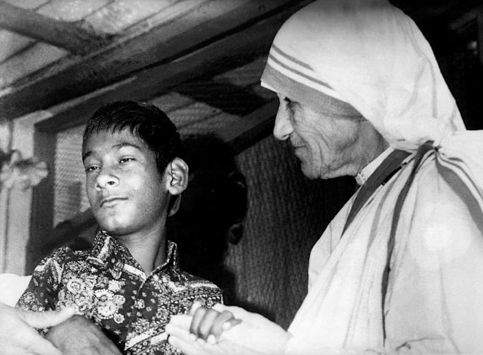 Mother Teresa worked for most of her life with people in poverty in the Indian city of Calcutta (AFP Photo/)