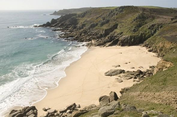 Man airlifted to hospital after cliff rock falls on Cornwall beach