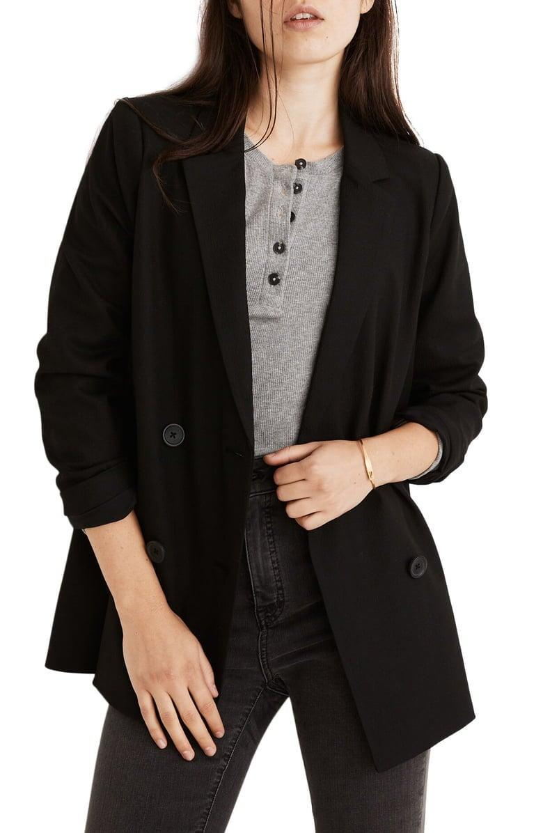 <p><span>Madewell Caldwell Double Breasted Blazer</span> ($65, originally $158)</p>