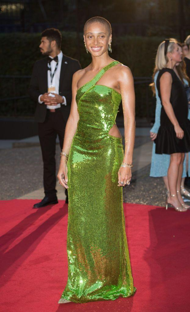 <p>The supermodel wore a Tom Ford for Gucci, green sequinned, asymmetric dress from 2004 to the event where she presented Stormzy with the Haig Club Solo Artist awards.</p>