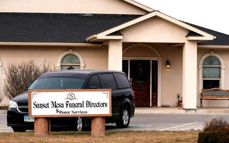 FILE PHOTO: The Sunset Mesa Funeral Directors and Donor Services building in Montrose, Colorado, U.S., December 16, 2017. REUTERS/Rick Wilking/File Photo