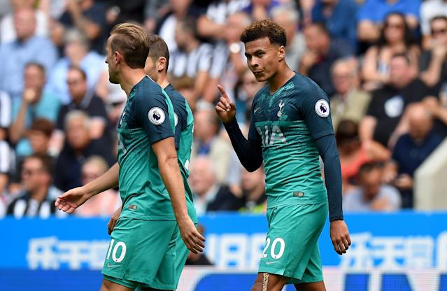They're mint: Dele Alli was in fine form on the first day of the season at Newcastle
