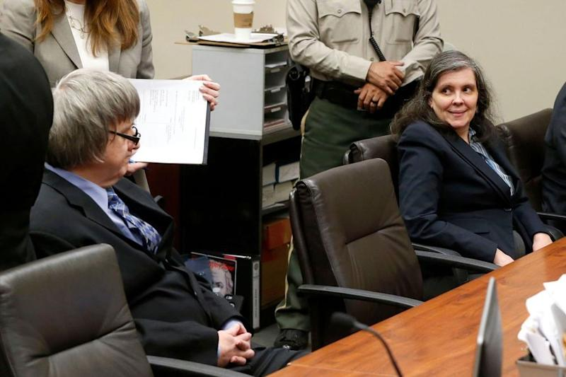 From left: David and Louise Turpin in court in February