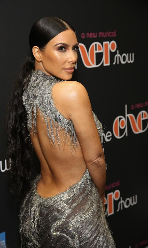 "<p>Kim Kardashian en el estreno del musical ""The Cher Show"", en Nueva York. Getty Images </p>"