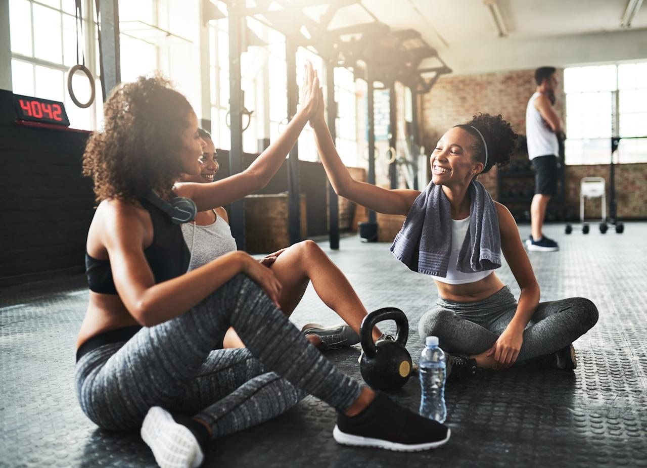 """<p>If you've <a href=""""https://www.popsugar.com/fitness/How-Start-Doing-Cardio-45621164"""" class=""""ga-track"""" data-ga-category=""""Related"""" data-ga-label=""""https://www.popsugar.com/fitness/How-Start-Doing-Cardio-45621164"""" data-ga-action=""""In-Line Links"""">never really worked out consistently</a>, or you've been out of a fitness routine for a while, you can't expect to go from zero to 60 and run a marathon - or even a mile. </p> <p>""""All too often trainers hear people say things like, 'I want to lose 25 pounds for an event in six weeks' or 'I don't exercise, but I want to get healthy and work out with you five days a week,'"""" Victoria Nolan, an NASM-certified personal trainer at Suite Time Fitness in Houston, told POPSUGAR. """"It's much easier to stick to a new routine if you set <a href=""""https://www.popsugar.com/fitness/How-Set-Fitness-Goals-45467377"""" class=""""ga-track"""" data-ga-category=""""Related"""" data-ga-label=""""http://www.popsugar.com/fitness/How-Set-Fitness-Goals-45467377"""" data-ga-action=""""In-Line Links"""">small, manageable fitness goals</a> with a larger goal in mind. Seeing and tracking progress is a great motivator.""""</p>"""