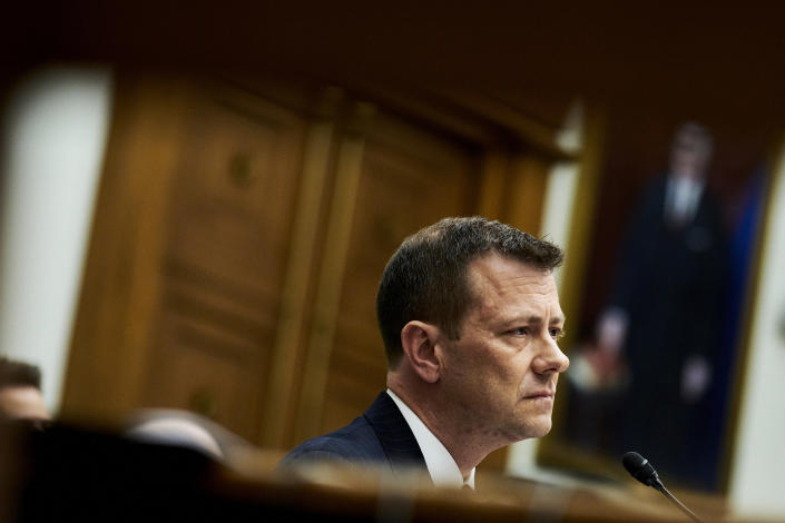 Peter Strzok, the FBI deputy assistant director who played a key role in the bureau's Russia investigation, while testifying on Capitol HIll in Washington, July 12, 2018. (T.J. Kirkpatrick/The New York Times)