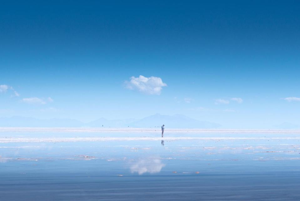 <p>The world's largest salt flats. When it rains, the water makes it look like a giant mirror. </p>