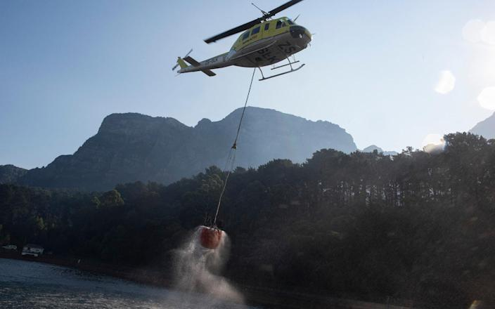 helicopter table mountain - AFP via Getty Images