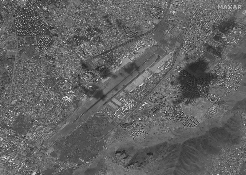 Overview of the Hamid Karzai International Airport in Kabul