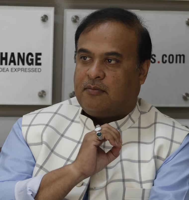 Himanta Biswa Sarma, Assam NRC, Assam citizenship, Himanta Biswa Sarma on NRC, Assam Muslims, Northeast, BJP, Amit Shah, Lok Sabha elections 2019, Himanta Biswa Sarma idea exchange, Bangladeshi Muslims, India news, Indian express