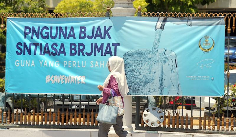 The Perak Water Board has been criticised for 'misspelt' words on its banners that encourage water conservation. — Picture by Farhan Najib