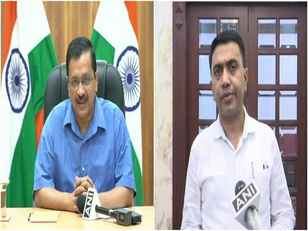 Arvind Kejriwal says his Goa counterpart is ignoring local voices, Sawant hits back accusing Delhi Chief Minister of doing divisive politics. (Photo/ANI)