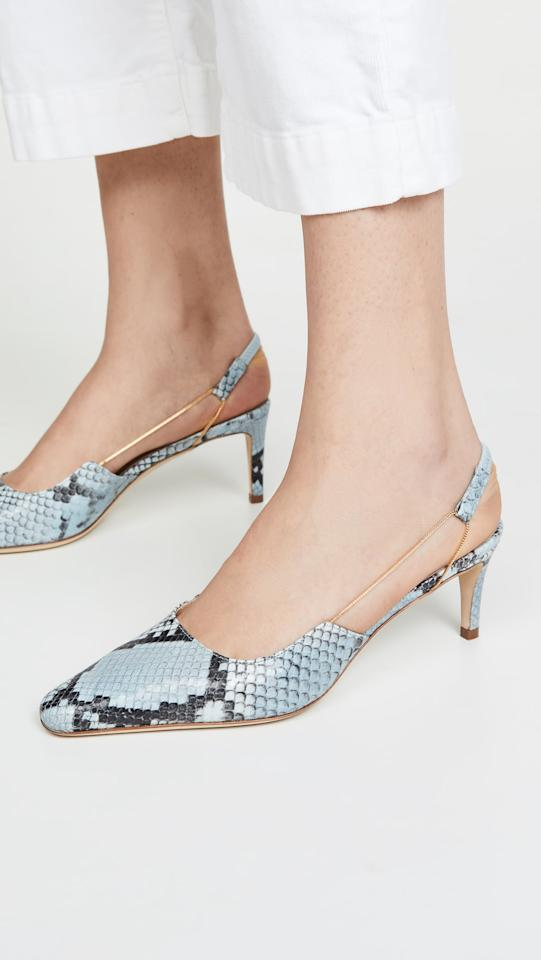 "<p>These <a href=""https://www.popsugar.com/buy/Far-Gabriella-Slingback-Pumps-487987?p_name=By%20Far%20Gabriella%20Slingback%20Pumps&retailer=shopbop.com&pid=487987&price=475&evar1=fab%3Aus&evar9=45623303&evar98=https%3A%2F%2Fwww.popsugar.com%2Ffashion%2Fphoto-gallery%2F45623303%2Fimage%2F46581670%2FBy-Far-Gabriella-Slingback-Pumps&list1=shopping%2Cshoes%2Ctrends%2Cheels%2Cbest%20of%202020&prop13=api&pdata=1"" rel=""nofollow"" data-shoppable-link=""1"" target=""_blank"" class=""ga-track"" data-ga-category=""Related"" data-ga-label=""https://www.shopbop.com/gabriella-slingback-by-far/vp/v=1/1541211999.htm?fm=search-viewall-shopbysize&amp;os=false"" data-ga-action=""In-Line Links"">By Far Gabriella Slingback Pumps</a> ($475) are held together by a delicate chain that we love.</p>"