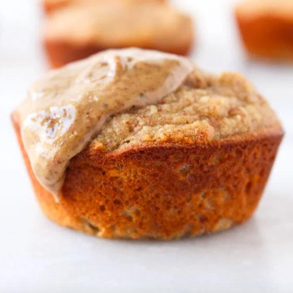 """<p>Banana bread can be a total sugar and calorie bomb—hardly a wholesome breakfast or snack. These banana bread muffins are a deliciously healthy alternative. For an extra punch of protein, top these reasonably sized muffins with a smear of nut butter. (We're obsessed with these <a href=""""https://www.shape.com/healthy-eating/diet-tips/high-protein-nut-seed-butter-packs-to-go"""" target=""""_blank"""">single-serving packets of nut butter</a>!)</p> <p><strong>Get the recipe:</strong> <a href=""""http://www.rdeliciouskitchen.com/banana-bread-muffins/"""" target=""""_blank"""">Banana Bread Muffins</a></p>"""