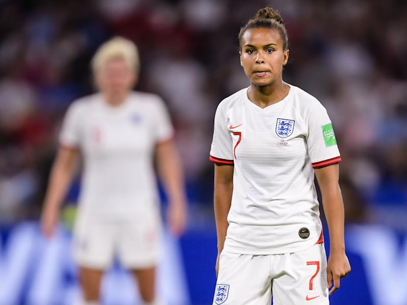 Nikita Parris of England women during the FIFA Women's World Cup France 2019 semi final match between England and United States of America at Stade de Lyon on July 02, 2019 in Lyon, France(Photo by VI Images via Getty Images)