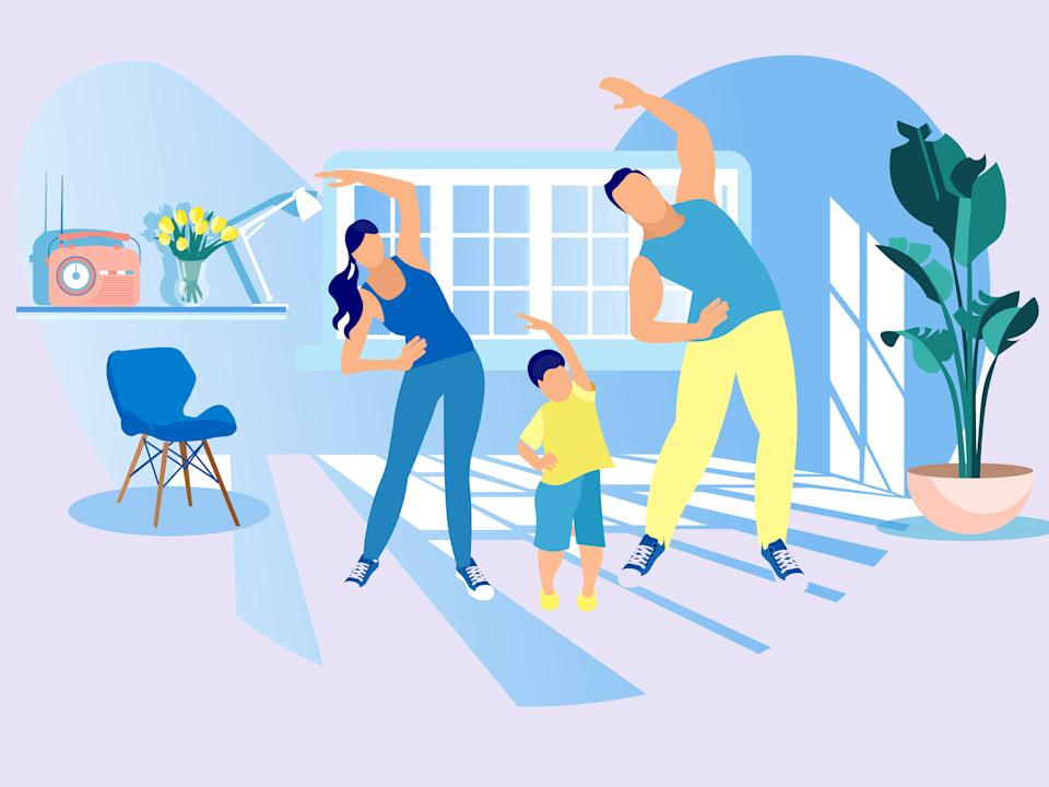 <p>We've found some nifty tech and classic gym bits to get the whole household moving</p> (iStock)