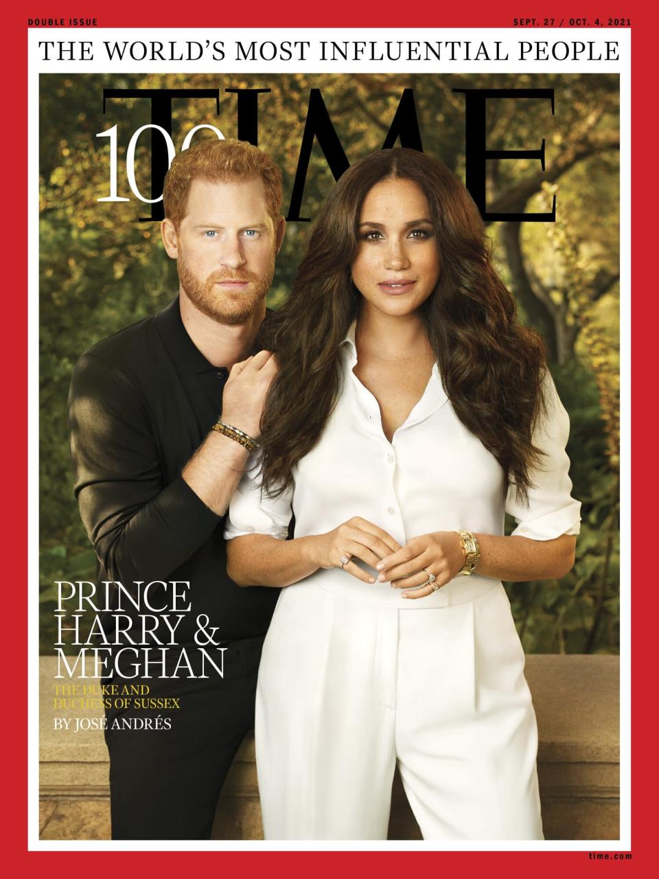 The TIME cover portrait featuring Prince Harry and Meghan