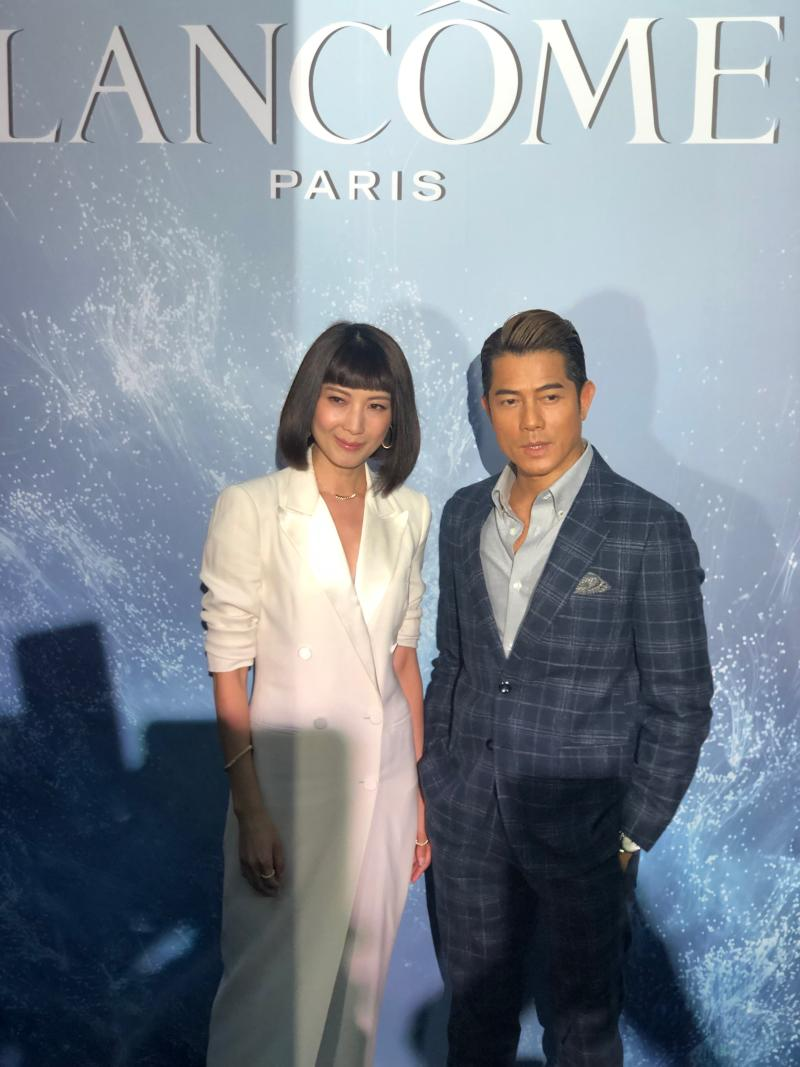 Jeanette Aw and Aaron Kwok (PHOTO: Sheila Chiang/Yahoo Lifestyle Singapore)