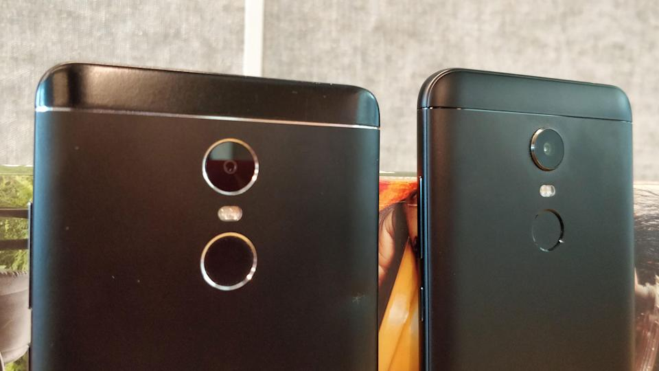 The Redmi Note 5(right) comes with a 12-megapixel rear camera