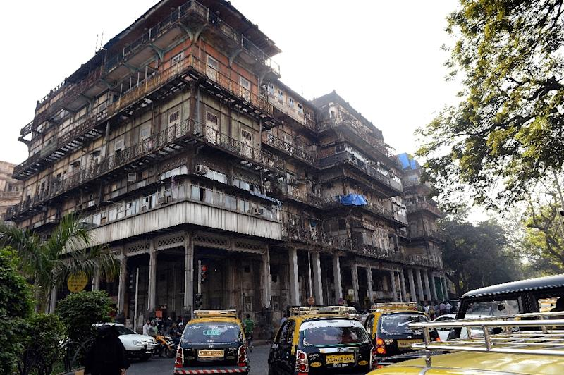 The 147-year-old Esplanade Mansion, formerly the resplendent Watson's Hotel, and frequented and written about by Mark Twain, is now a ramshackle shadow of its former glory (AFP Photo/Indranil Muherjee)