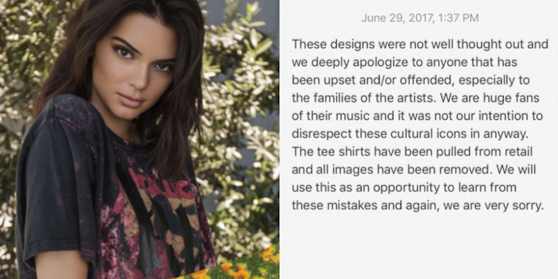 37b0591da76 Kendall and Kylie Jenner Apologize for Their Vintage Shirts After ...