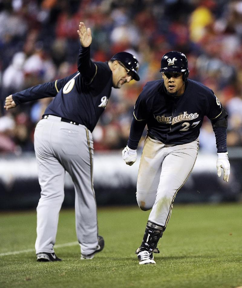 Braun and Brewers beat Phillies 9-4
