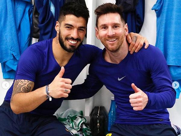 Barcelona striker Lionel Messi and Luis Suarez (Photo/Lionel Messi Instagram)