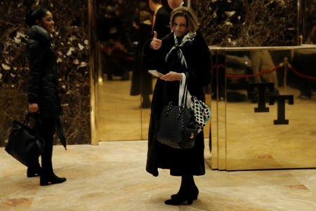 """Kathleen Troia """"K.T."""" McFarland arrives at Trump Tower in New York"""